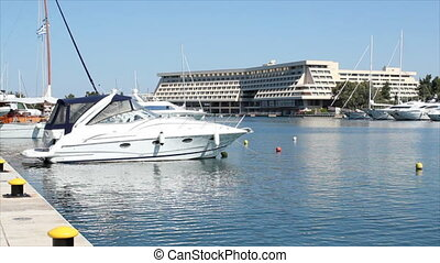 port with yacht