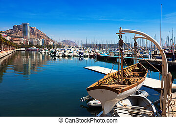 port with yachts in Alicante. Spain