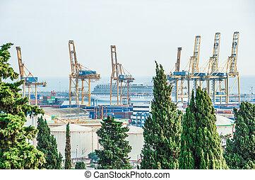 port., zona, 01.05.2017, foto, franca., barcelona., mar, tomado, spain.