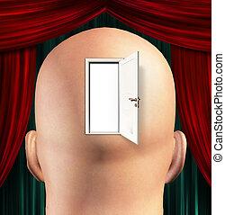 porta, a, mente