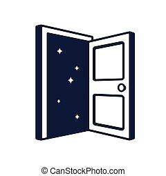 porta aberta, logotipo