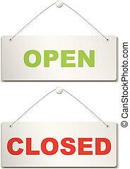 porta aberta, sinal fechado
