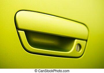 porta, automobile, manico