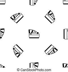 porta, car, pretas, seamless, padrão