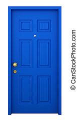 porta, con, cornice