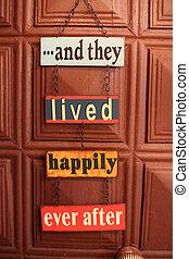 porta, felicidade, sinal