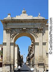 Porta Nazionale Noto Sicily Italy - the National Gate, Porta...