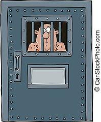porta, prisão