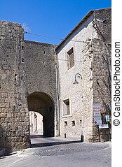 Porta Romana. Tarquinia. Lazio. Italy.