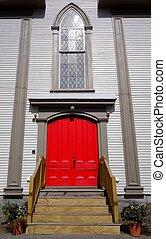 porta rossa, chiesa