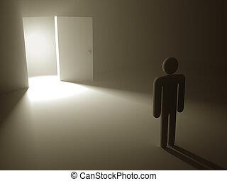 porta, segreto, successo