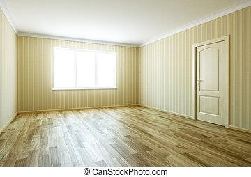 porta, stanza, vuoto