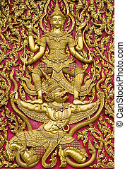 porta, tailandese, chiesa