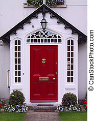 porta, vermelho
