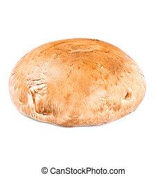 Portabello mushroom isolated on white close up - Portabella...