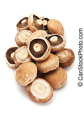 Portabello mushrooms - Raw edible portabello mushrooms...