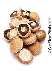 Portabello mushrooms - Raw edible portabello mushrooms ...