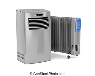Portable air conditioner and oil-filled heater