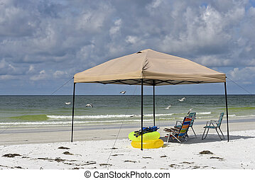 Portable Beach Shelter and Chairs