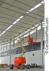 Portable crane - Portable construction crane in big...