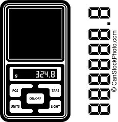 portable digital weight scale black symbol