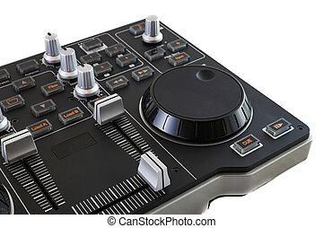 Portable DJ Control Mixer on white background.