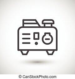 Portable electric generator line icon