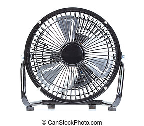 portable fan on white background