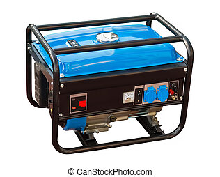 Portable generator on a white background