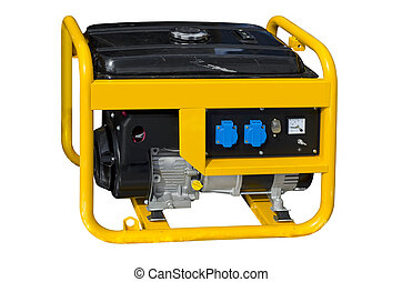 Portable generator - Small portable generator on a white...