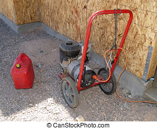 Portable Generator - A portable generator fueled up and...