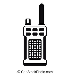 Military radio simple icon  shortwave radio transmitter for