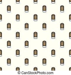 Portable heater pattern seamless vector