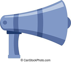 Portable megaphone icon, cartoon style