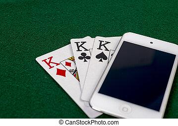 Portable on-line gambling