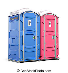 Portable plastic toilet or public facilities for using in ...
