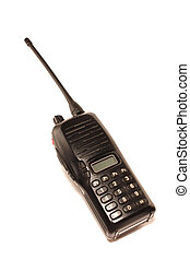 portable radio set on a white background