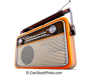 portable radio - 3D rendering of a vintage radio
