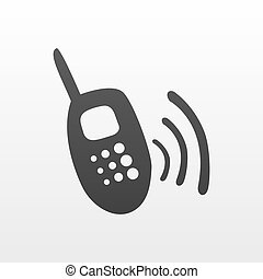 portable radio transmitter icon