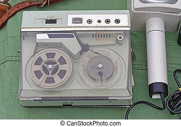 Portable reel to reel - Old portable reel to reel audio tape...