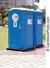 portable toilets to let