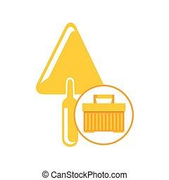 portable tool box trowel icon