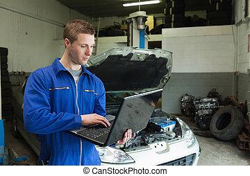 portable utilisation, mécanicien garage