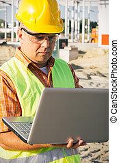portable utilisation, ouvrier construction