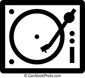 Portable vinyl record player, turntable