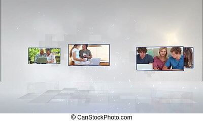 portables, ph, vidéo, gens