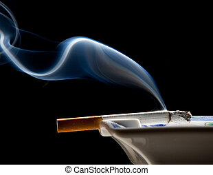 portacenere, e, fumo, wisp