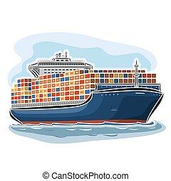 portador de la nave, contenedor