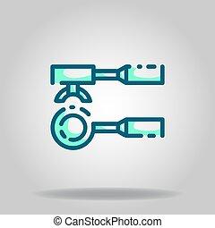 portafilter icon or logo in  twotone - Logo or symbol of ...