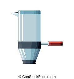 portafilter of coffee in white background vector illustration design